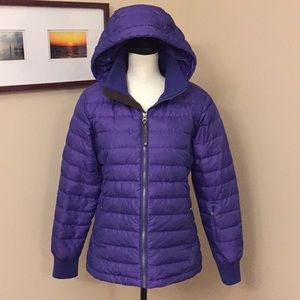 The North Face purple goose down jacket, Size M